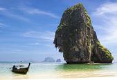 Happy Island with boat  — Stock Photo