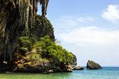Cave and water at Phra Nang beach — Stock Photo