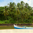 Stock Photo: Fishing boats in tropical river. Goa