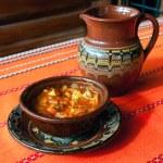 traditionell bulgarisk mat — Stockfoto