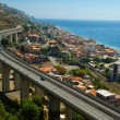 Overpass near sea.Sicily — Stock Photo