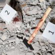 Stock Photo: Marked object on crime scene