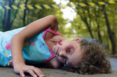 Child victim of a car accident — Stock Photo