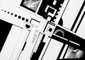 Ilustrace prvků několika geomtrical na bílém pozadí — Stock fotografie