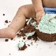 Cake Smash Photo — Stock Photo