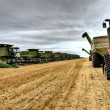Combines Saskatchewan — Stock Photo