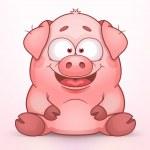 Sitting Pig — Stock Vector