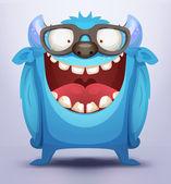 Blue Monster — Stock Vector
