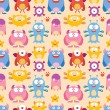 Seamless Monster Pattern — Stockvektor