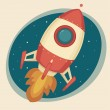 Retro Rocket — Vector de stock #31165407