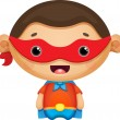 Vector de stock : Super Hero boy