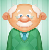 Smiling grandfather in glasses — Stock Vector