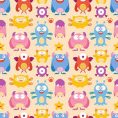 Seamless Monster Pattern — Vector de stock