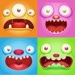 Monster faces — Stock Vector