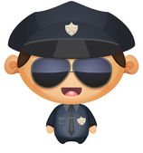 Policeman in Sunglasses — Stock Vector