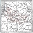 Stock Photo: Map of Department of Somme vintage engraving