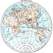 Earth, eastern Hemisphere, vintage engraving. — Stock Photo