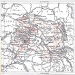 Stock Photo: Topographical Map of Marne in Champagne-Ardenne, France, vintage