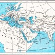 Ancient World Map of Europe, Asia and Africa, vintage engraving — Stock Photo
