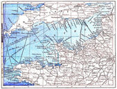Topographical Map of the English Channel in Manche in Basse-Norm — Stok fotoğraf