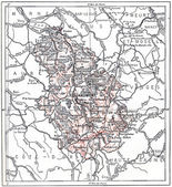 Topographical Map of Haute-Marne in Champagne-Ardenne, France, v — Stock Photo