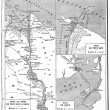 Map of Suez Canal, vintage engraving. — Stock Photo