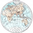 Stock Photo: Earth, eastern Hemisphere, vintage engraving.