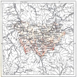 Stock Photo: Topographical Map of Department of Haute-Loire in Auvergne,