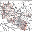 Topographical Map or Lorraine, France, vintage engraving — Stock Photo #13662747