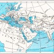 Ancient World Map of Europe, Asia and Africa, vintage engraving - Stock Photo