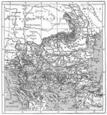 Map of Turkey, Bulgaria, Serbia, Romania and Montenegro, vintage — Stock Photo