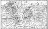 Map of the Earth's Magnetic Field, vintage engraving — Stock Photo