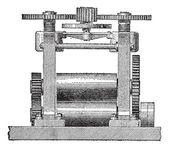 Laminating Machine, vintage engraving — Stock Vector