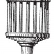 Mechanical Lantern, vintage engraving. — Vektorgrafik