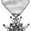 Cross of the Order of Saint-Louis, vintage engraving — ベクター素材ストック