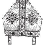 Bishop's Miter, vintage engraving — Stock Vector #13683086