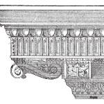 Corbel, vintage engraving — Stock Vector #13683091