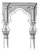 Lobe, vintage engraving — Stock Vector