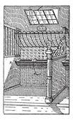 Gravura de manjedoura, vintage — Vetor de Stock