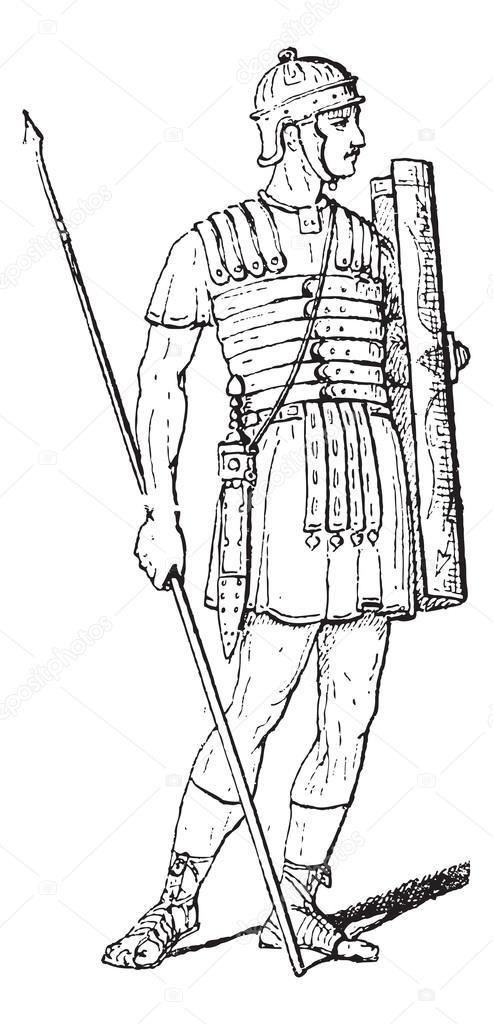 Рисунки карандашом римский легионер