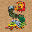 Royalty-Free Stock Vector Image: Mayan dragon, illustration