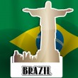 Vector de stock : Brazil, illustration