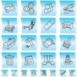 Construction buttons and icons, illustration - Stock Vector