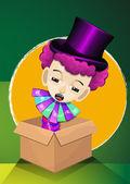 Jack in the Box, illustration — Stock Vector