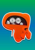 Monster Head, illustration — Stock Vector