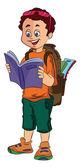 Boy Traveller, illustration — Stock Vector