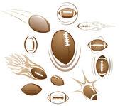 Footballs, illustration — Stock Vector