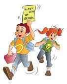 School Kids, illustration — Stock Vector