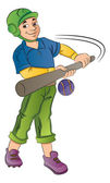 Baseball Player, illustration — Stock Vector