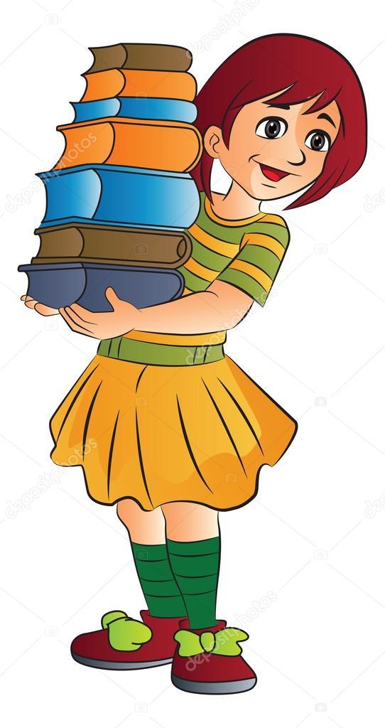 Resultado de imagen de chica con libros